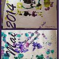 Peinture au tampon et pochoirs