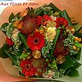 Bouquet Rond Nutens,Aspidistra,Pittosporum