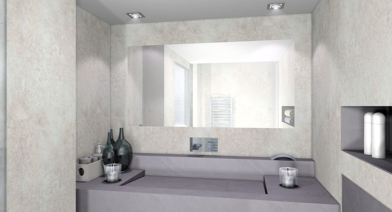 Awesome Salle De Bain Beton Blanc Gallery - Amazing House Design