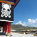 Dans le temple tibétain de langmusi, gansu