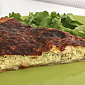 Tarte fine au 3 <b>fromage</b> courgettes