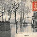 La seine monte, les quais de puteaux inondés.