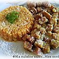 Petits dés curry coco & riz curry rapide ...