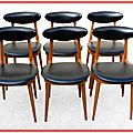<b>Chaises</b> Baumann Licorne vintage 1960 Guariche