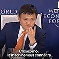 A davos, le pdg d'alibaba livre son secret pour que les êtres humains deviennent meilleurs