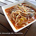 SOUPE CHINOISE DE NOUILLES