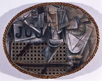 Pablo Picasso, Nature morte à la chaise cannée, 1912