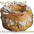 ~~ paris brest à la crème de marrons ~~