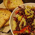 Salade de lentilles (végétalien)