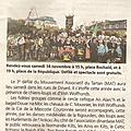 Article dans le pays malouin du 12/11/2015
