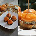 Bouchees roquefort/abricots/thym sur sa baguette aux graines de pavot [battlebread#3aperotime]
