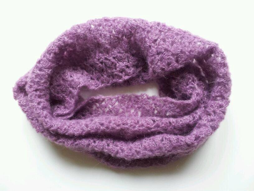 snood duveteuse violette 2