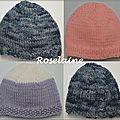 Bonnets pour bébés prémas j5