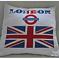 Pdc et couture: coussin i love london