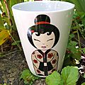 Assiette et mug en porcelaine