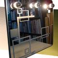 Scarlette - miroir-lampes, miroir récup