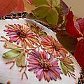 Hexagone # 5 bee-quilt, tuto : coeur des fleurs en relief