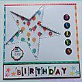 Participation concours carte anniversaire