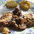 Rôti de veau aux champignons de paris