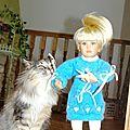 TENUE ROMANTIQUE CAMILLE KIDZ & CATS, TUTO en vente dans ma boutique