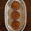 Muffins aux pois chiches, à l'orange et à l'amande