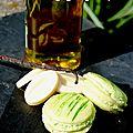 Macarons à l'huile d'olive et à la vanille