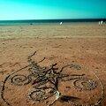 plage où on peut dessiner avec des cailloux yurtao