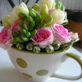 Des fleurs en tasse...