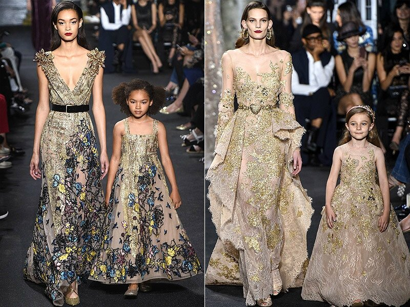 robes de m re fille elie saab haute couture fashion week de paris robedefilles. Black Bedroom Furniture Sets. Home Design Ideas
