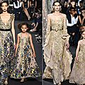 Robes de mère-fille elie saab haute couture fashion week de paris