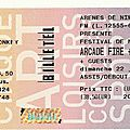 Arcade Fire / <b>Arctic</b> <b>Monkeys</b> - Dimanche 22 Juillet 2007 - Arènes de Nîmes
