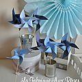 moulins à vent bleu ciel bleu marine bleu orage mariage photobooth bapteme baby shower décoration chambre enfant garçon bébé