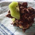 Palets croquants au chocolat au lait et kiwis
