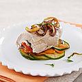 Ballotine de veau pochée, lamelles de légumes croquants (pour 4 personne(s)