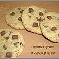 Cookies au pralin et chocolat au lait
