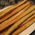 Gressins au basilic et parmesan