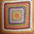 Granny coussin coton perlé