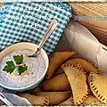Bataille food #21 { chaussons au chou kale et champignons shitakee sauce tahin}