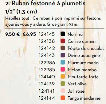 p172 ruban festonné plumetis