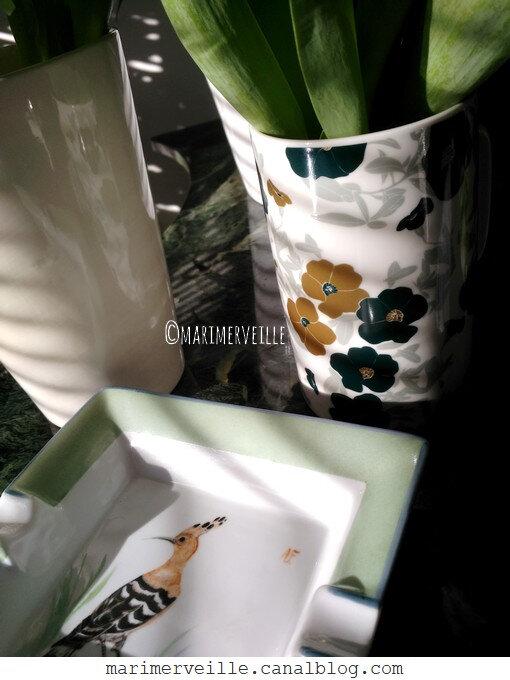 cendrier oiseau peint à la main - marimerveille