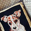Toby le chien (ou le canevas kitch)