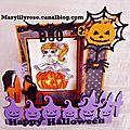 Carte halloween pour la dt de paradise of stamps
