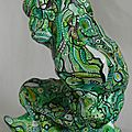 Hervé THAREL - SCHMIMBLOCK'S ptivert 2013 - acrylique sur argile - 15cm x 13,5 (2)