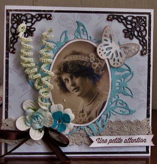 carte postale d'avril envoyée à Nathalia