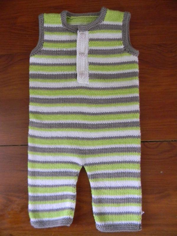Combinaison bébé en coton sans manches