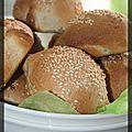 P'tits pains navette aux graines de sésame