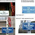 De la rue Delavelle Victor,notaire, à Victor Delavelle, maire.