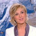 Evelyne Dhéliat jupe grise haut blanc 1800 23 09 10