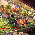 The boqueria market of barcelona