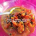 Salade de tomates à la marocaine